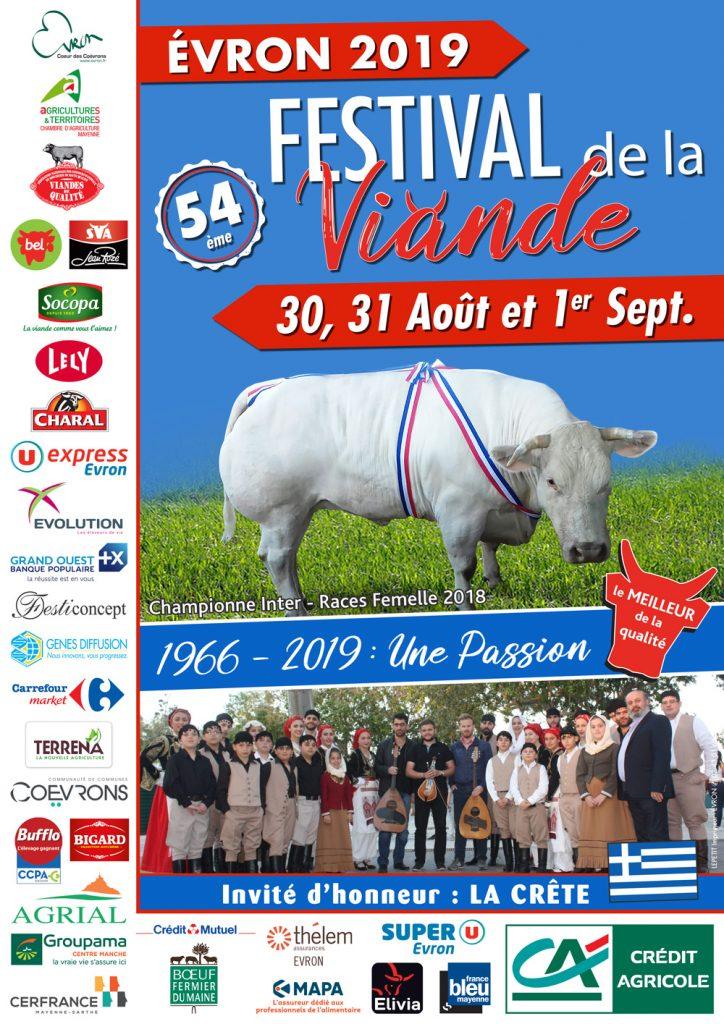 Affiche Festival de la Viande d'Evron 2019